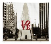 Love In Philadelphia Fleece Blanket