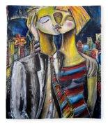 Love In The City Fleece Blanket