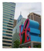 Love In The City - Philadelphia Fleece Blanket