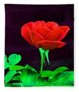 Love Is A Rose Fleece Blanket