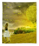 Love Is All Around Us And So The Feeling Grows Fleece Blanket