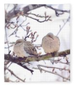 Love Is In The Air - Mourning Dove Couple Fleece Blanket
