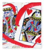 Love Is In The Cards Fleece Blanket