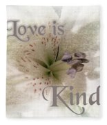 Love Is Kind Fleece Blanket
