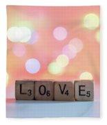 Love Lights Square Fleece Blanket