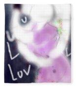 Love Lock Fleece Blanket