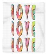 Love Love Love Phone Case Fleece Blanket