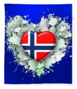 Love Norway 2 Fleece Blanket