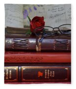 Love Of Books Fleece Blanket