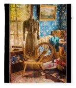Love Of Sewing Poster Fleece Blanket