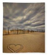 Love On The Forecast Fleece Blanket