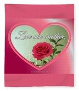 Love One Another Card Fleece Blanket