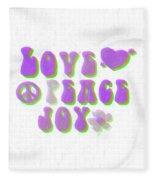 Love Peace And Joy 11 Fleece Blanket