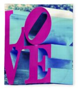Love Philadelphia Neon Pink Fleece Blanket