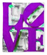 Love Philadelphia Purple Digital Art Fleece Blanket