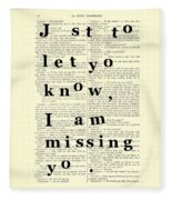 Love Poem, Valentine Gift  Fleece Blanket