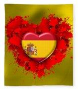 Love Spain Fleece Blanket