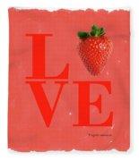 Love Strawberry Fleece Blanket