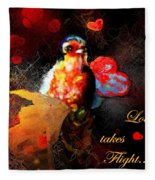 Love Takes Flight Fleece Blanket