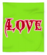 Love Text Fleece Blanket