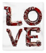 Love You To Death Fleece Blanket