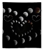 Love You To The Moon And Back Fleece Blanket