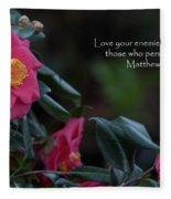 Love Your Enemies Fleece Blanket