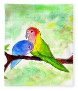 Lovebirds Fleece Blanket