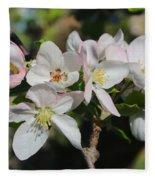 Lovely Apple Blossoms Fleece Blanket