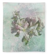 Lovely Apple Blossoms Fleece Blanket