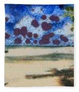 Lovely Beach Fleece Blanket