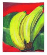 Lovely Bunch Of Bananas Fleece Blanket