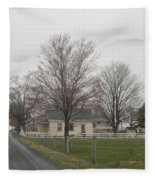 Lovely Day At An Amish Schoolhouse Fleece Blanket