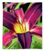 Lovely Day Lily Fleece Blanket