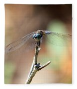 Lovely Dragonfly Fleece Blanket