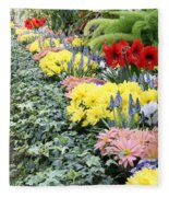 Lovely Flowers In Manito Park Conservatory Fleece Blanket