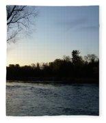 Lovely Light On Mississippi River Fleece Blanket