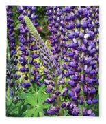 Lovely Lupines Fleece Blanket