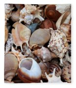 Lovely Seashells Fleece Blanket