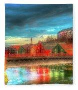 Lovely Trondheim Norway Fleece Blanket