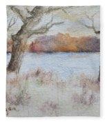 Lovers' Lake Fleece Blanket