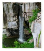 Lover's Leap Waterfall Fleece Blanket