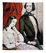 Lovers Quarrel, 1846 Fleece Blanket