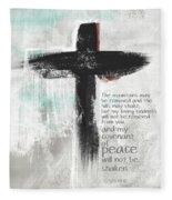 Loving Kindness Cross- Art By Linda Woods Fleece Blanket