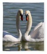 Loving Swans Fleece Blanket