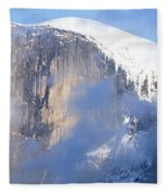 Low Angle View Of A Mountain Covered Fleece Blanket