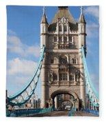 Low Angle View Of Tower Bridge, London Fleece Blanket