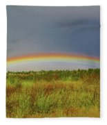 Low Lying Rainbow Fleece Blanket