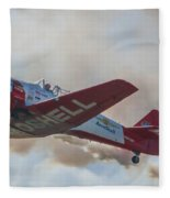 Low Pass Stunt Plane Fleece Blanket