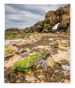 Low Tide At Saddle Rocks Fleece Blanket